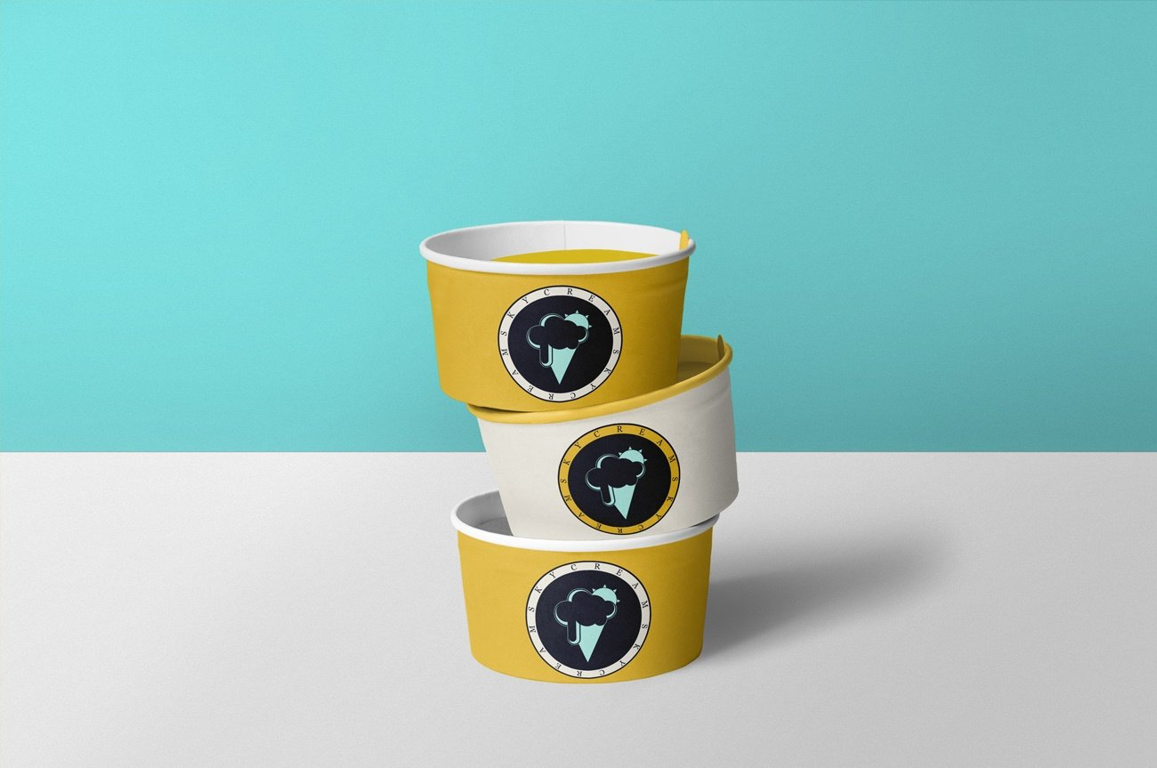 skycream logo gelato design