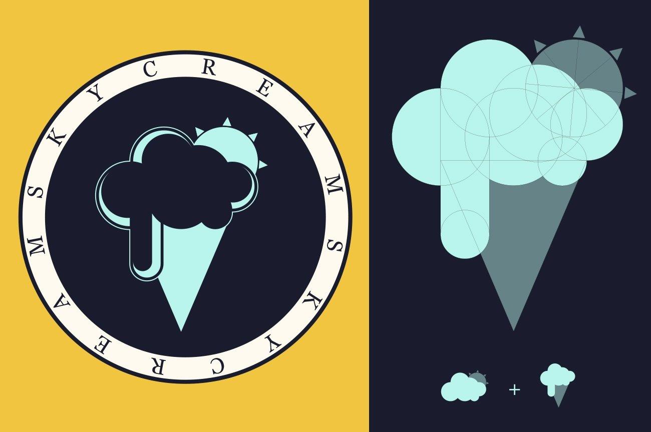 realizzazione logo gelato design
