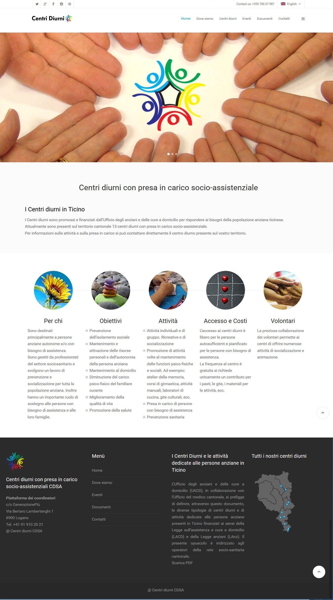 realizazione sito web Centri Diurni