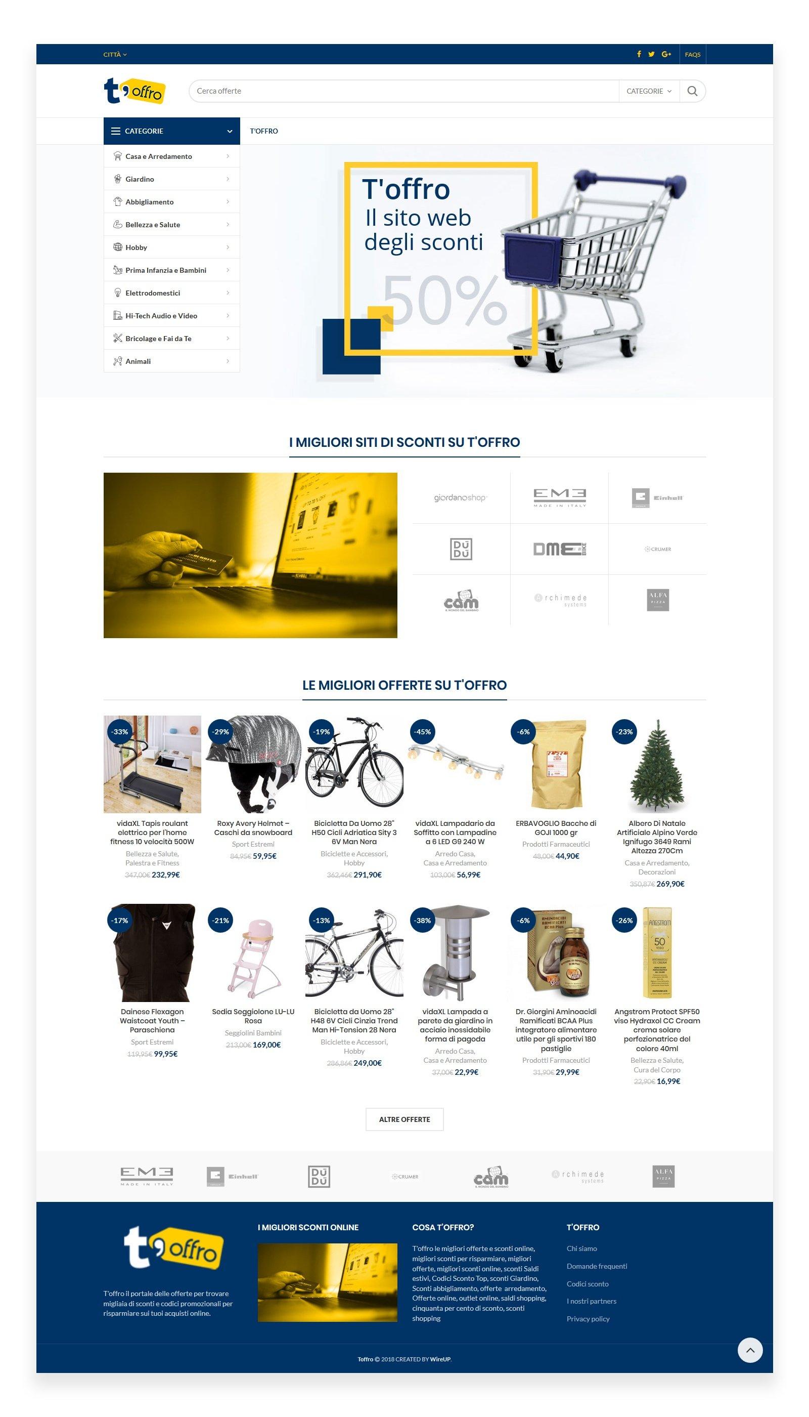 sito web e-commerc sconti toffro