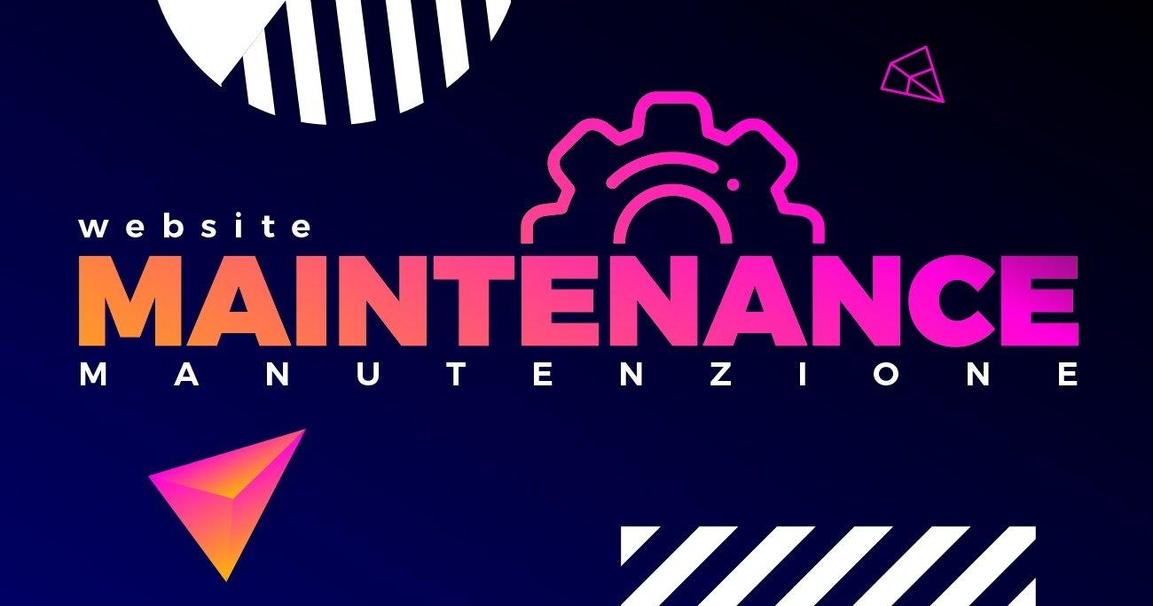 manutenzione sito web website maintenance