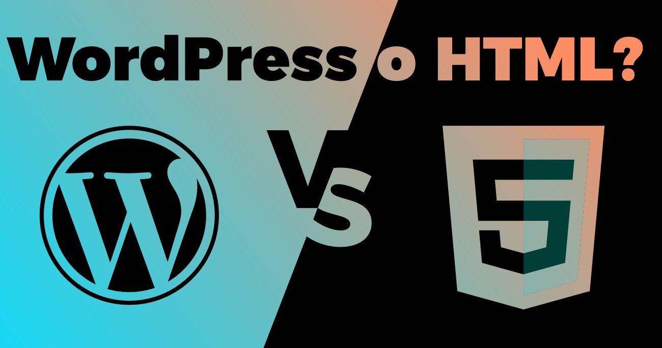 meglio sito web wordpress o html