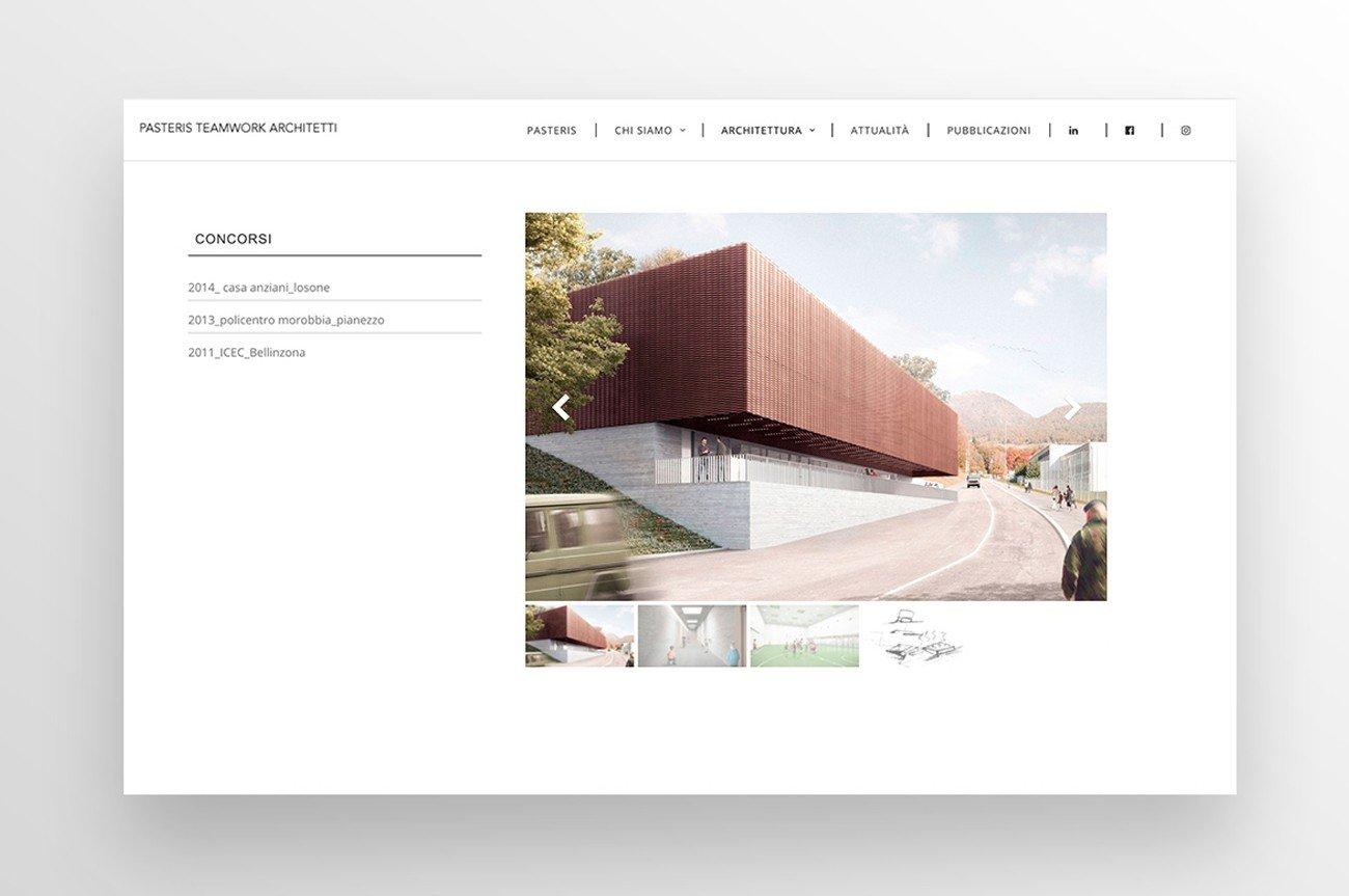 sito web architettura studio achitetti gallery