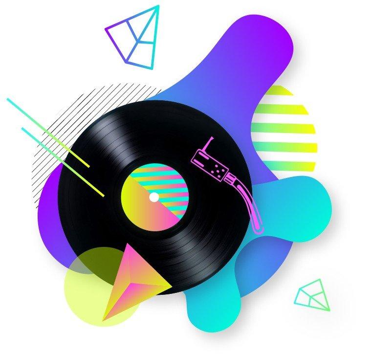 agenzia grafica wireup disco vinile musica
