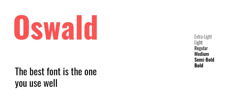 google font Oswald