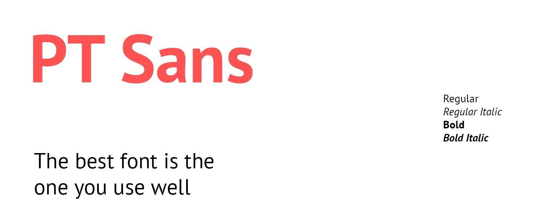 google font PT Sans