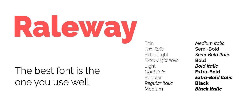 google font Raleway