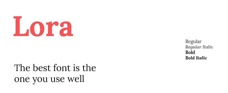google font lora