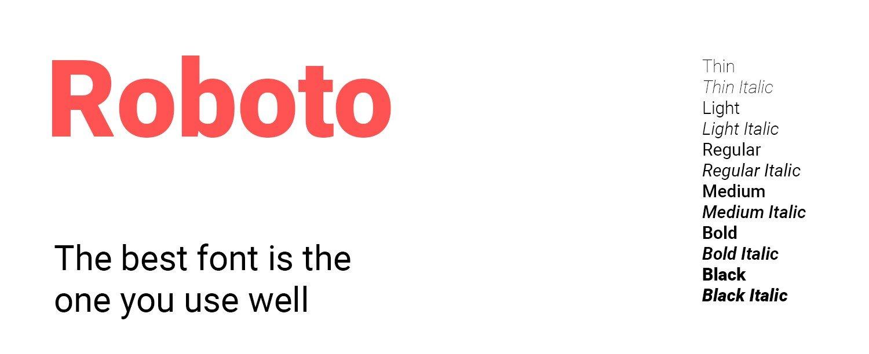 google font roboto
