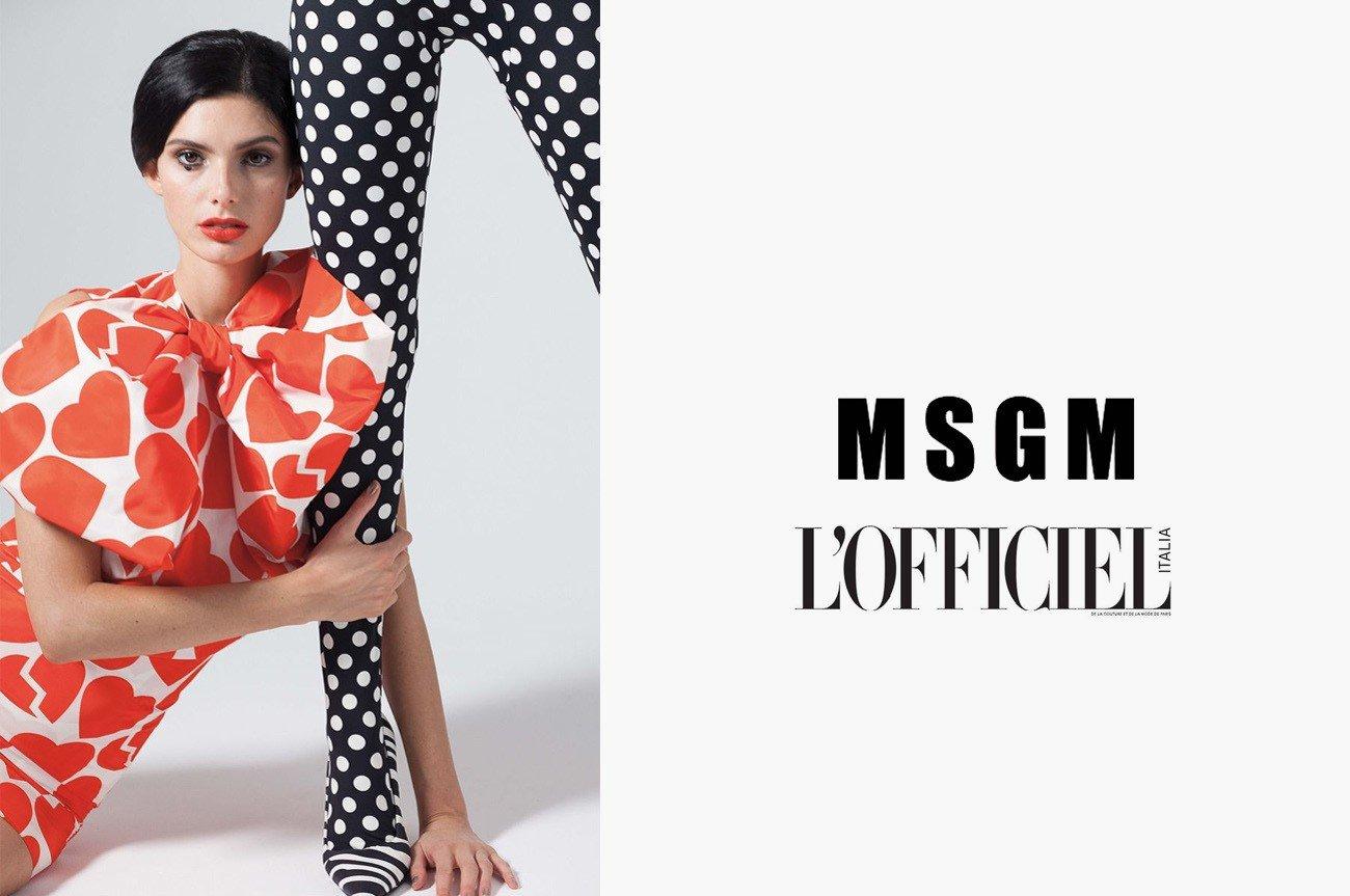 foto commerciale officiel italia msgm moda milano