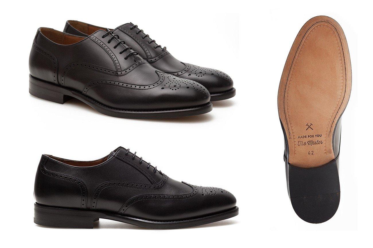 foto ecommerce scarpa classica in cuoio
