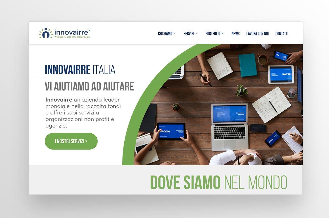 non profit organization website design sito internet
