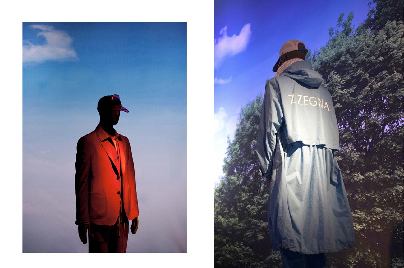 zegna foto shooting campagna moda milano